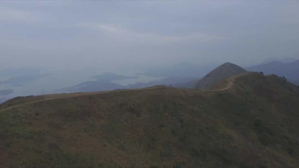 The ridge line after Ma On Shan. Video screenshot from HK100 Race Video