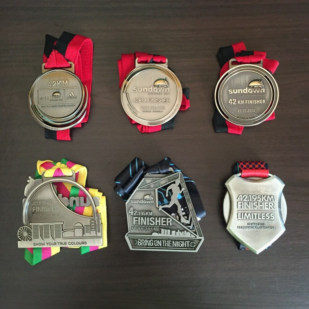 6 Sundown Marathon Finishes in 7 years. Not a bad haul indeed.
