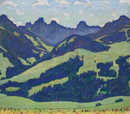 Ferdinand Hodler, Landschaft bei Château d'Oex, circa 1905. Source: Wikimedia Commons