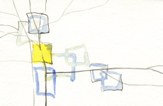 """Untitled watercolor, 4x6"""", 2013."""