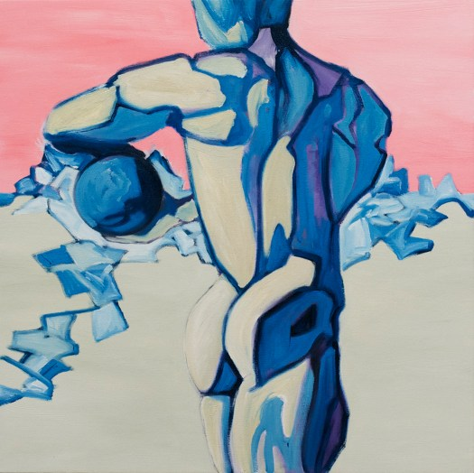 "Skandha 3 (Torso 3), oil on canvas, 24"" square, 2013."