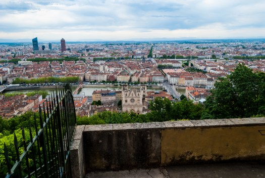 The city of Lyon as seen from the Fourvière hill.