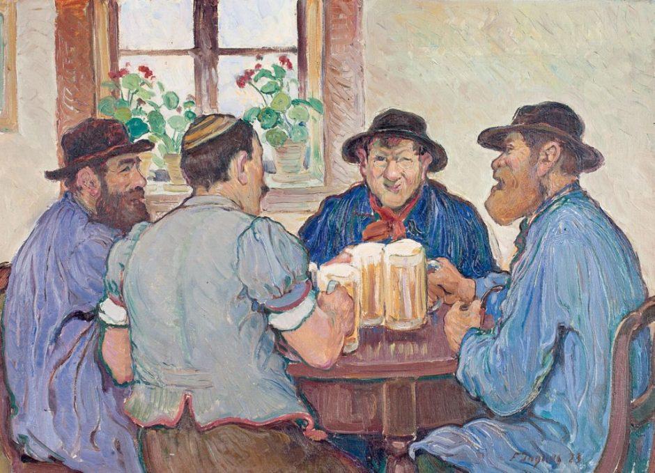 Swiss people toasting
