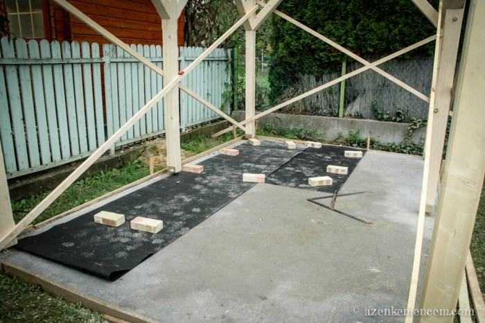 Kemence alapozás és a tetőszerkezet