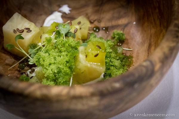 Sült zeller, alma, sóska granita - Adam Rawson - Globalista Konyha
