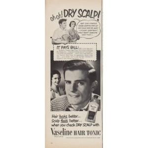 1952 Vaseline Hair Tonic ad