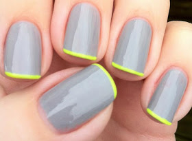fine neon mani via lackfein dot blogspot dot de