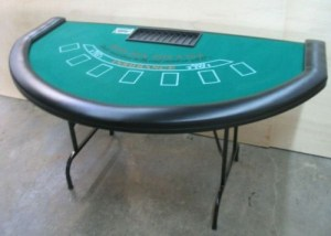 Black Jack Table with Bumper