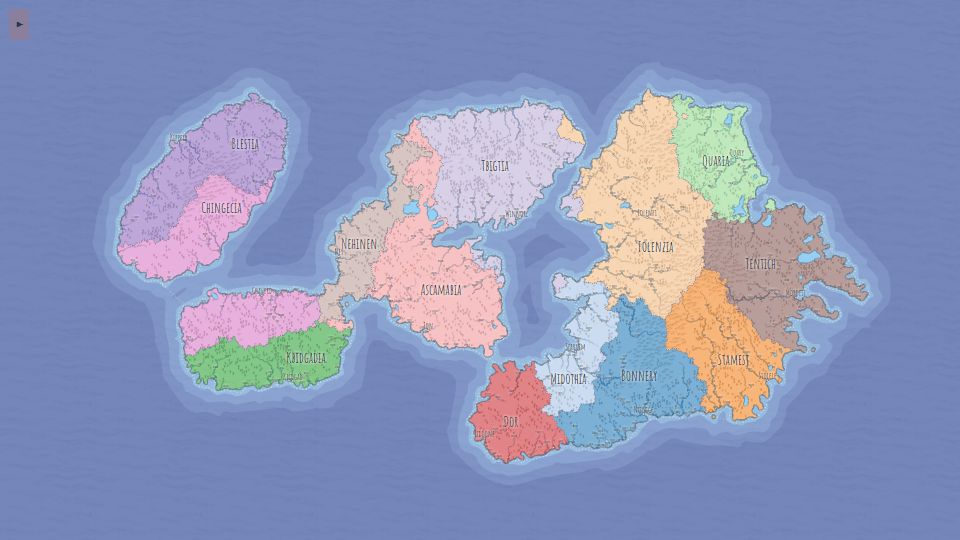 Settlements, Regions, Routes and Labels – Fantasy Maps for fun and glory