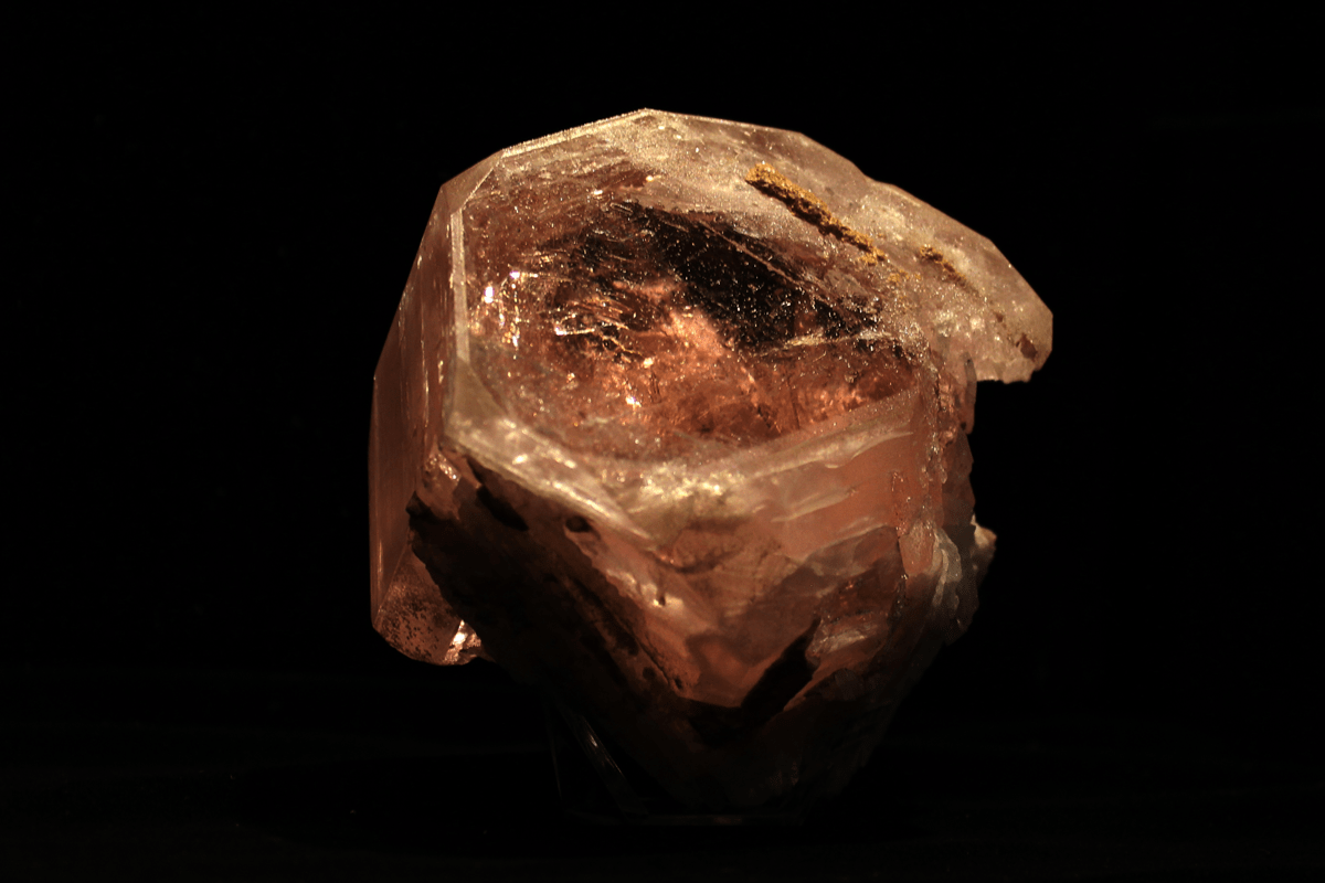 "Figure 8b. ""The Peach,"" morganite beryl from the Bennett Quarry, Maine"