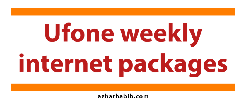 Ufone weekly internet packages