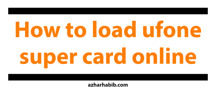 how to l ufone super card online