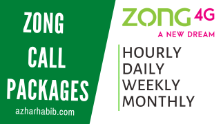 Zong Call Packages 2021