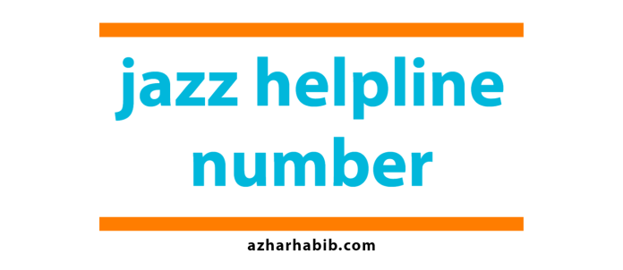 jazz helpline number