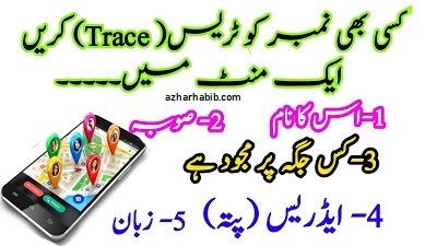 Trace Mobile Number In Pakistan with Name