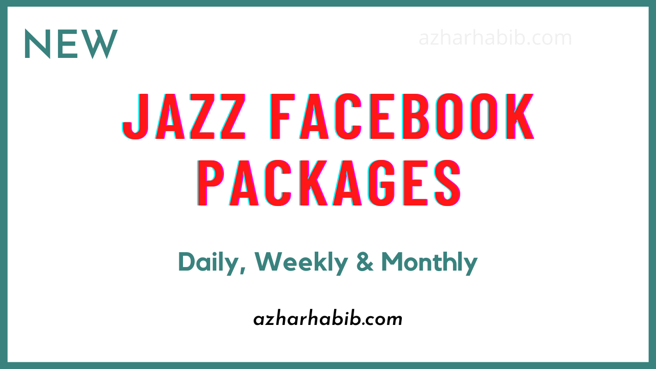 Jazz Facebook Packages | Jazz Daily, Weekly & Monthly Facebook Packages