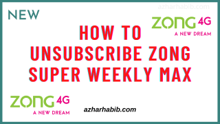 How to unsubscribe zong super weekly max
