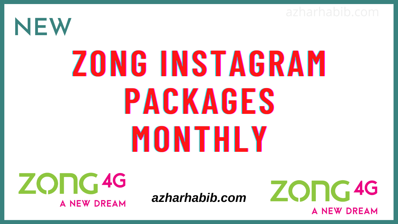 zong instagram package monthly