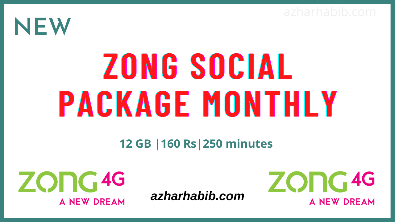 Zong Social Package Monthly