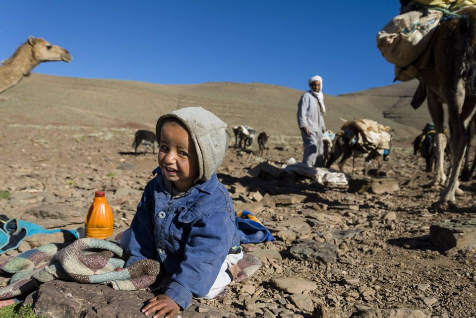 Meet Mohamed, the youngest nomad, he did his first trip when he was one weak old.
