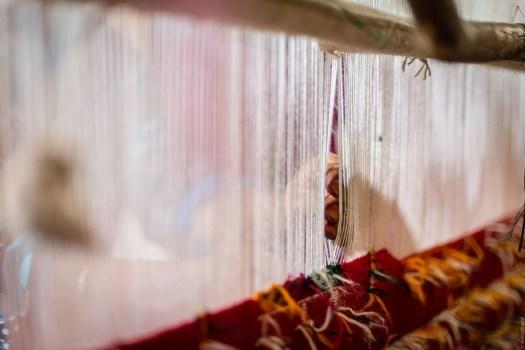 Amazigh women weaving
