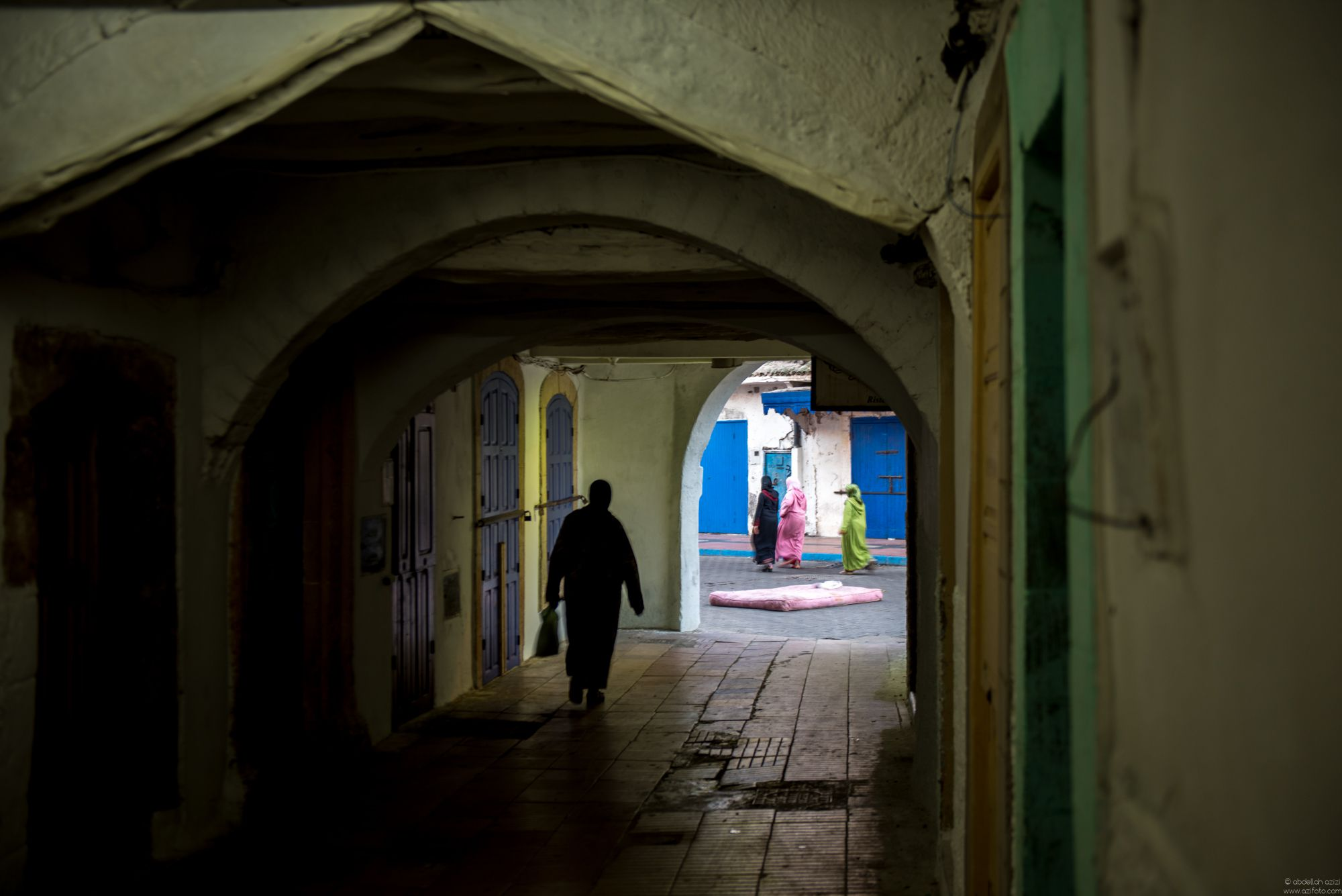 Essaouira, bed in the street