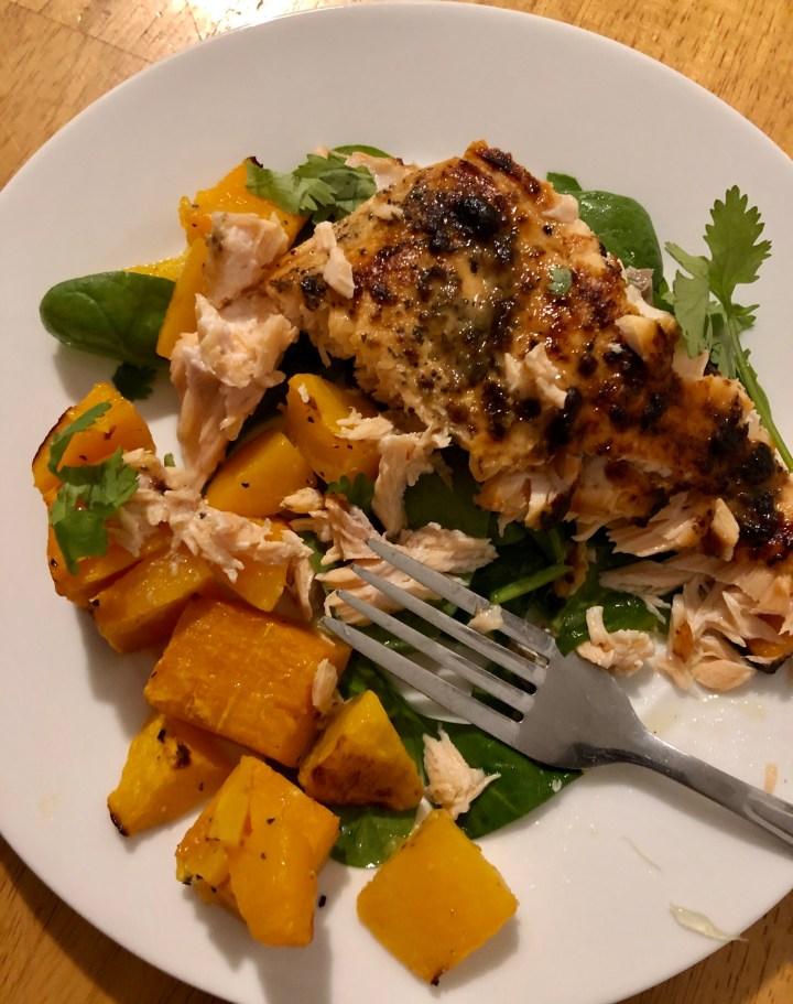 30 Minute Garlic & Herb Salmon Dinner