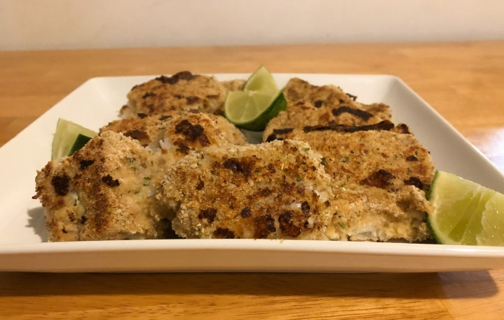 Breaded Cod on a Griddle