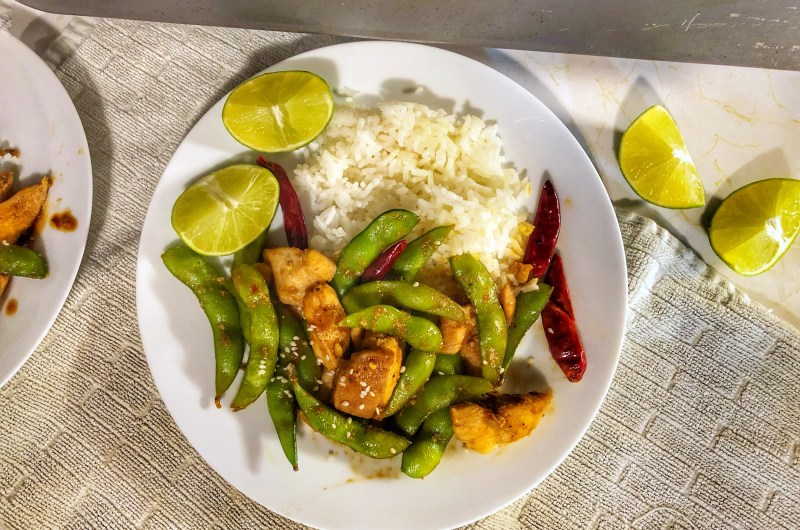Zesty, Sweet and Spicy Chicken Edamame