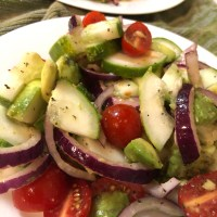 Cucumber, Tomato and Avocado Salad