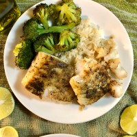 Sautéed Buttery, Garlic Cod with Lime