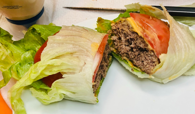Cheeseburger Wrapped in Lettuce (No Bun & Healthy)