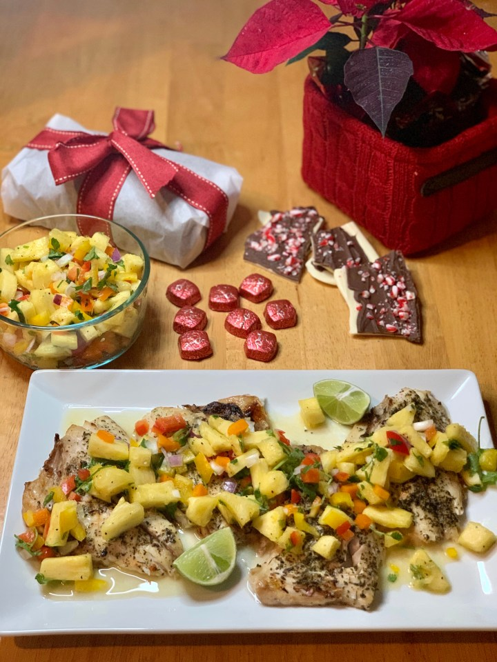 Snapper with Pineapple Salsa (In Under 30 minutes)