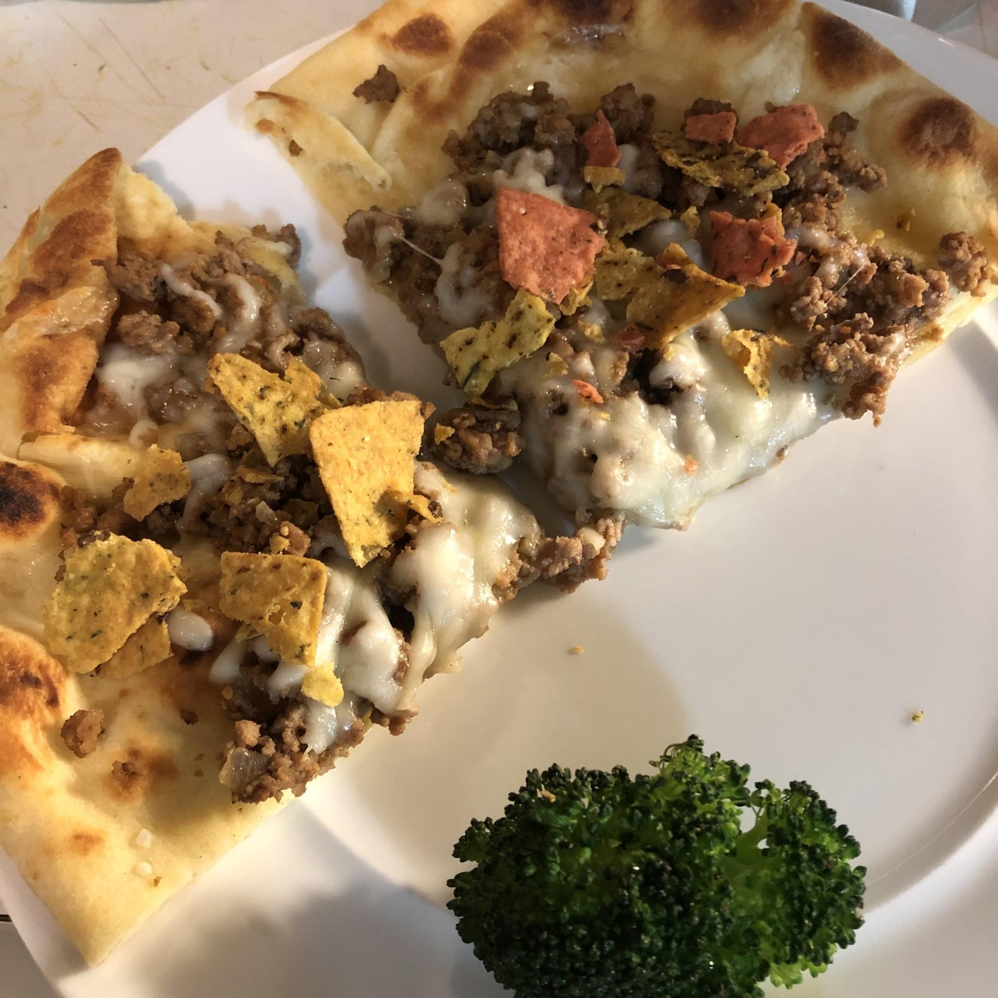 naan pizza taco