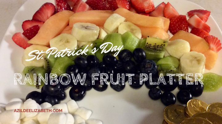 St. Patrick's Day Rainbow Fruit Platter