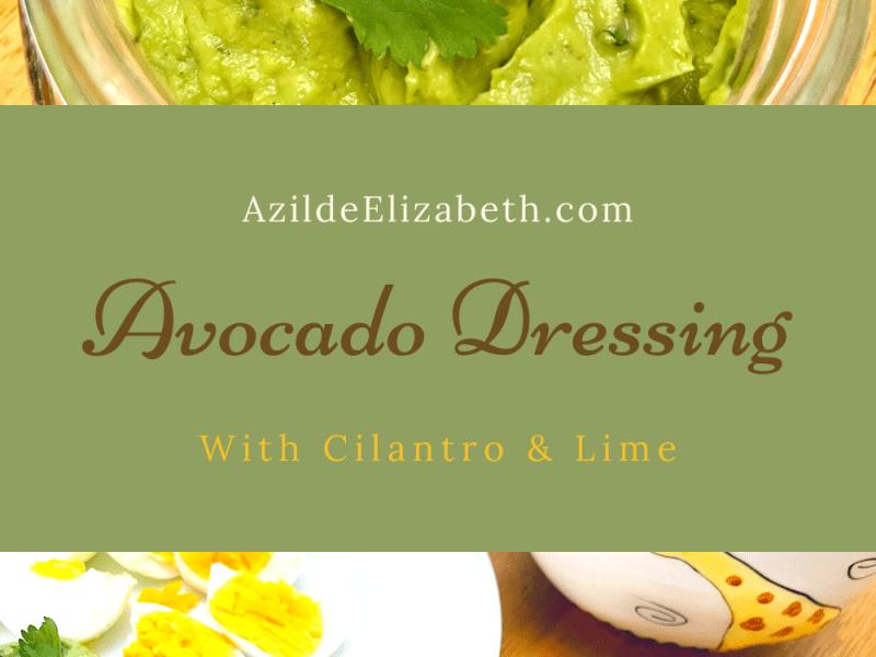avocado dressing blog