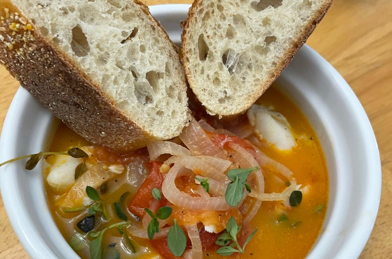 Easy Cod Soup With Tomato Broth