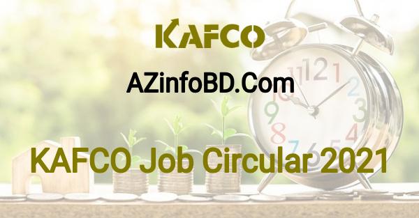 KAFCO Job Circular