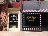A kosher butcher and a barber shop