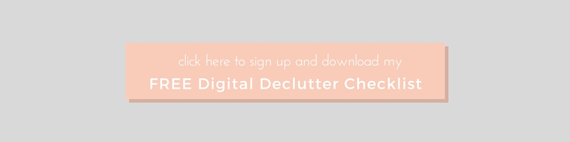 Digital Declutter Checklist