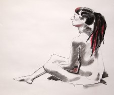 Anita. Charcoal and pastel on paper. Todmorden, 2016