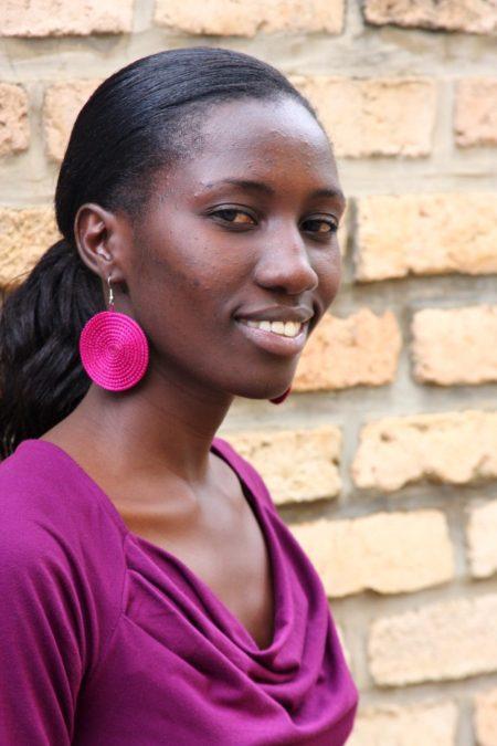 Jeannine's Raspberry Disc Earrings