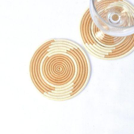 Woven Coasters Tea Natural