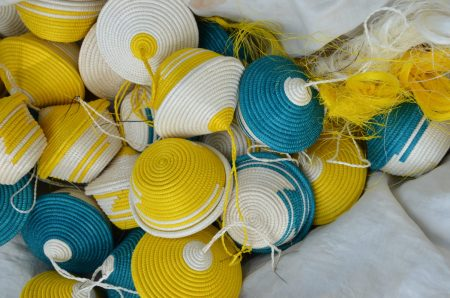 Miniature Peace Basket Ornaments