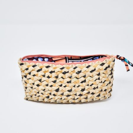 Palm Leaf Phone Purse- Coral