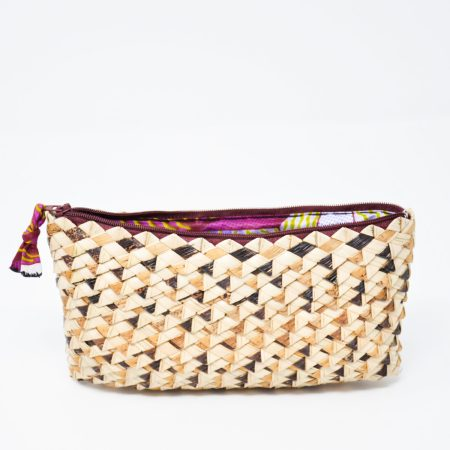 Palm Leaf Phone Purse- Violet Purple
