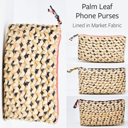 Palm Leaf Phone Purses Collage