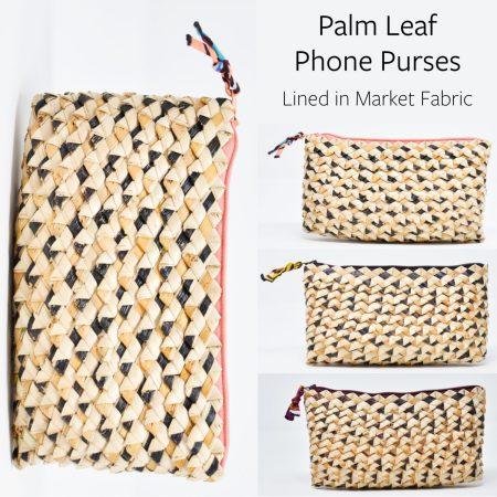 Palm Leaf Phone Purses Collage
