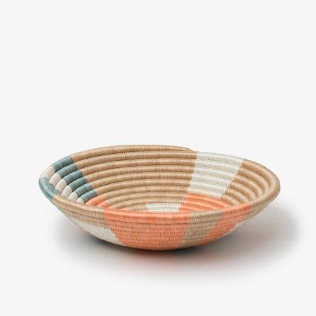 Prism Bowl Medium Orange Teal - Side
