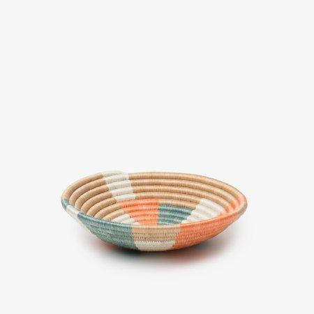 Prism Bowl Small Orange Teal - Side